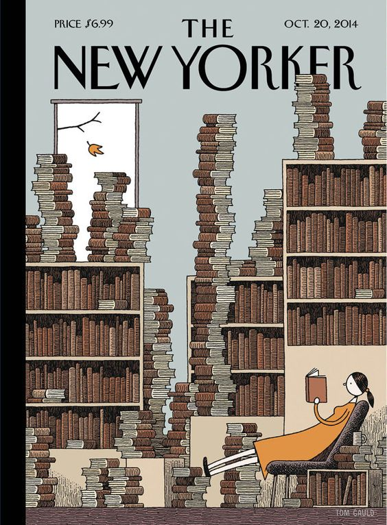 Tom Gauld Fall Library The New Yorker