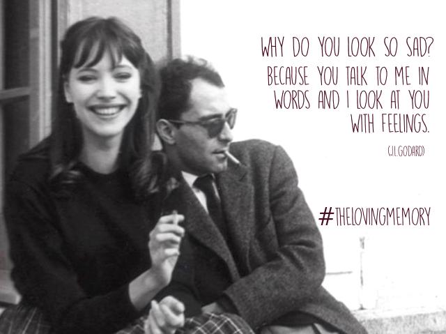 The Loving Memory Magazine : Jean Luc Godard & Anna Karina